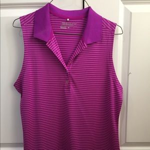 Women's Nike Dri-fit sleeveless golf shirt